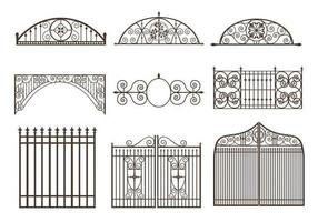 Pack vectoriel Gates and Fences