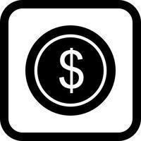 conception d'icône pièce de dollars vecteur