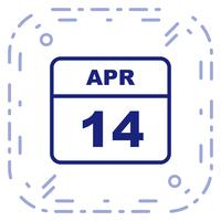 14 avril Calendrier d'un jour