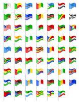 drapeaux des pays d'Afrique vector illustration