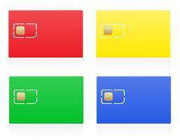 illustration vectorielle de sim carte couleur vecteur