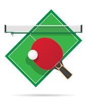 illustration vectorielle de table de ping-pong