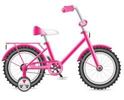 enfants vélo pour une illustration vectorielle de fille