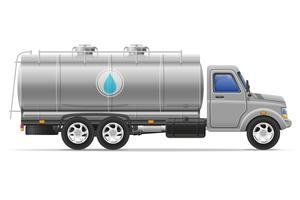 camion de fret avec réservoir pour transporter des liquides vector illustration