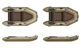 canot pneumatique pour illustration vectorielle pêche et tourisme