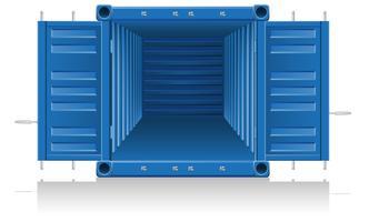illustration vectorielle de conteneur de fret vecteur