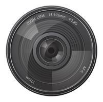 illustration vectorielle d'objectif photo caméra