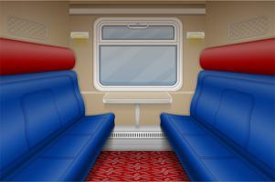 compartiment de train à l'intérieur vue vecteur