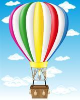 illustration vectorielle de ballon à air chaud