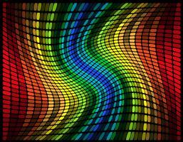 illustration vectorielle abstraite égaliseur graphique multicolore