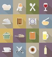 objets et équipements pour l'illustration vectorielle alimentaire vecteur