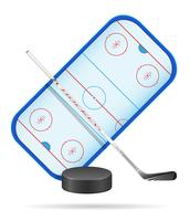 illustration vectorielle stade de hockey vecteur