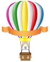 montgolfière et illustration vectorielle bannière vierge vecteur