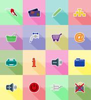 service plats icônes vector illustration