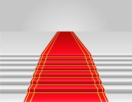 illustration vectorielle tapis rouge