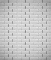 mur de fond sans couture de briques blanches vecteur