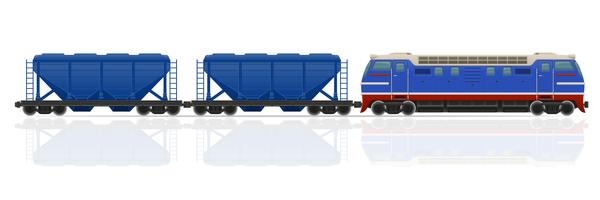 train avec locomotive et wagons vector illustration