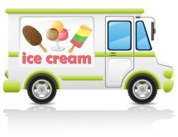 voiture transportant illustration vectorielle de crème glacée vecteur