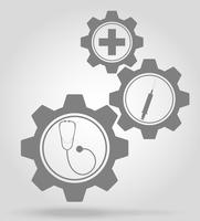 illustration vectorielle de médecine gear mécanisme concept