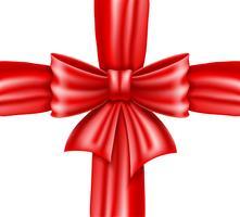 arc rouge et ruban illustration vectorielle réaliste vecteur