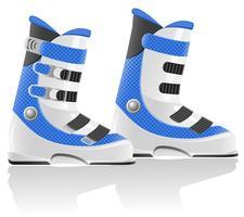 illustration vectorielle de chaussures de ski