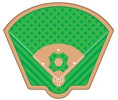 illustration vectorielle de terrain de baseball