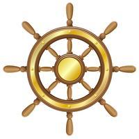 volant pour illustration vectorielle de navire