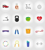 icônes plat fitness vector illustration