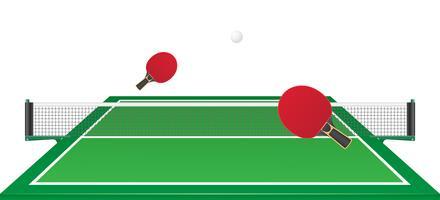 illustration vectorielle de tennis de table ping pong vecteur
