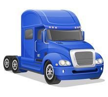 illustration vectorielle de gros camion bleu