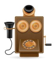 illustration vectorielle vieux téléphone icône rétro stock vecteur