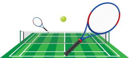 illustration vectorielle de tennis