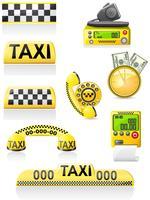 les icônes sont des symboles de taxi vecteur