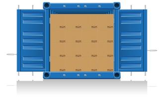 illustration vectorielle de concept cargaison livraison