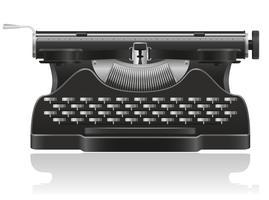 ancienne illustration vectorielle de machine à écrire vecteur
