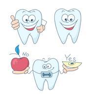 Art sur le sujet de la dentisterie pour enfants. Dents avec des accolades.