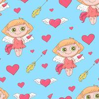 Modèles sans soudure Valentine s Day. Ensemble d'amour et de milieux romantiques