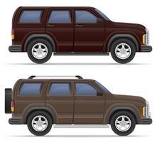 illustration vectorielle de voiture suv vecteur