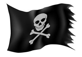 illustration vectorielle de drapeau pirate