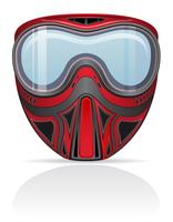 illustration vectorielle de paintball masque
