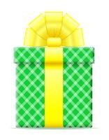coffret cadeau avec une illustration vectorielle arc vecteur