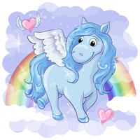 Carte postale fantastique avec Pegasus