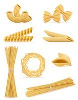 pâtes mis icônes illustration vectorielle
