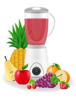 illustration vectorielle stationnaire mixeur de cuisine vecteur