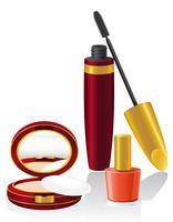 set cosmétique vector illustration
