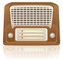 illustration vectorielle de radio rétro