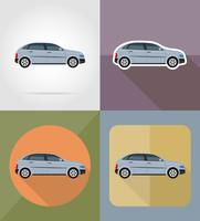 voiture transport plats icônes vector illustration