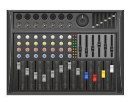 illustration vectorielle de panneau console son mixeur
