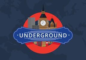 Transports publics de la ville de Londres avec le célèbre bâtiment vecteur