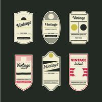 Étiquettes et étiquettes rétro vintage